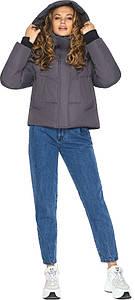 Графитовая куртка свободного кроя женская модель 27450