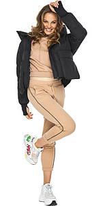 Куртка с накладными карманами женская черная модель 26370