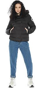 Куртка со съемным капюшоном женская черная модель 22150