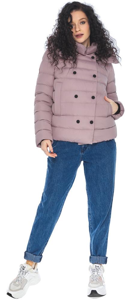Пудрова коротка куртка жіноча модель 22150