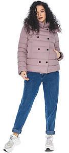 Пудровая короткая куртка женская модель 22150
