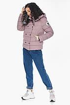 Пудрова коротка куртка жіноча модель 22150, фото 3