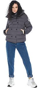 Графитовая куртка с карманами женская модель 22150