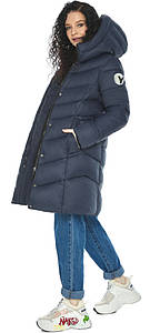 Куртка с карманами женская темно-синяя модель 21025 (ОСТАЛСЯ ТОЛЬКО 40(4XS))