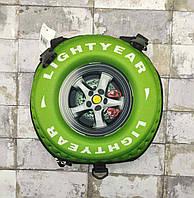 Рюкзак детский 3D колесо зеленое