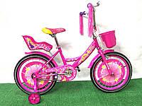 Детский двухколесный велосипед для девочки Azimut Герлз Girls 18 дюймов