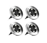 """Вуличні ліхтарі для саду """"Bell Howell Disk lights"""" (4 шт) LED світильники на сонячній батареї, фото 1"""