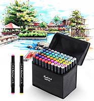 Набор маркеров для рисования Touch Raven 48 шт скетч-маркеры, профессиональные фломастеры по номерам