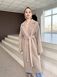 Брендове довге пальто з італійського кашеміру Мілана