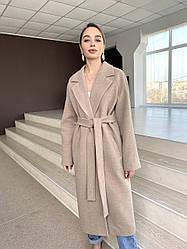 Брендовое длинное пальто из итальянского кашемира Милана