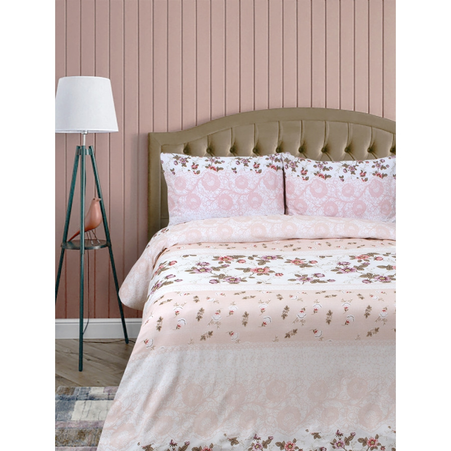 Постельное белье Lotus Ranforce - Chamomel розовый евро