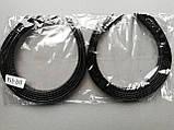Обруч для волос пластик, чёрный.- ширина 1,0 см * Ø 12,0 см., фото 3