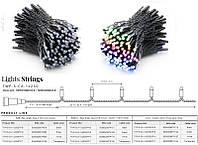 Smart LED Гирлянда Twinkly Pro Strings RGB 250, одинарная линия, AWG22, IP65, черный (TWP-S-CA-1X250STP-B)