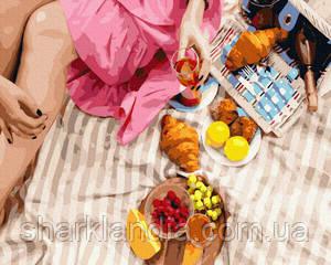 Картина по номерам Вкусности на пикник 40*50см Brushme