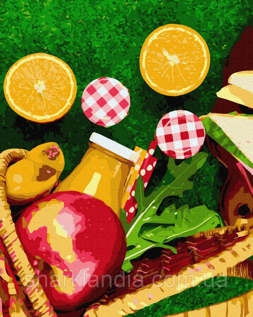Картина по номерам Апельсины из корзинки 40*50см Brushme