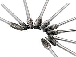 Набір борфрез по металу для гравера Dremel, 10 шт