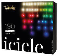 Smart LED Гирлянда Twinkly Icicle RGBW 190, Gen II, IP44, длина 5м, кабель прозрачный (TWI190SPP-TEU)