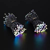 Smart LED Гирлянда Twinkly Strings RGB 250, Gen II, IP44, длина 20м, кабель черный (TWS250STP-BEU)