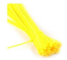Кабельна стяжка 3*250 (2,5*250) нейлонова жовтого кольору 100шт., фото 2
