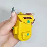 Игрушка рюкзачёк. Детская игрушка пластиковая рюкзак. Игрушка для мелочи. Жёлтый рюкзак., фото 2