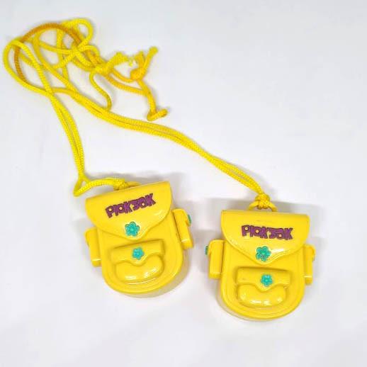 Игрушка рюкзачёк. Детская игрушка пластиковая рюкзак. Игрушка для мелочи. Жёлтый рюкзак.
