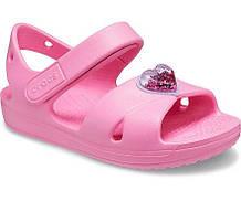 Сандалі на дівчинку Cross-Strap Classic Cross-Strap Charm Sandal Рожевий