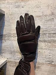 Перчатки милитарные кожаные тактични цельные