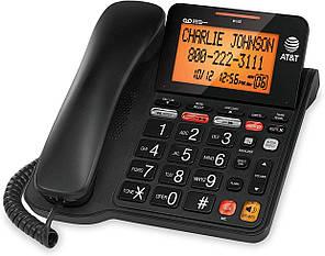 Стаціонарний телефон AT&T CD4930 із системою автовідповідача та ідентифікатором абонента