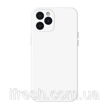 Чехол Baseus для iPhone 12 Pro Max Liquid Silica Gel, Ivory white (WIAPIPH67N-YT02)