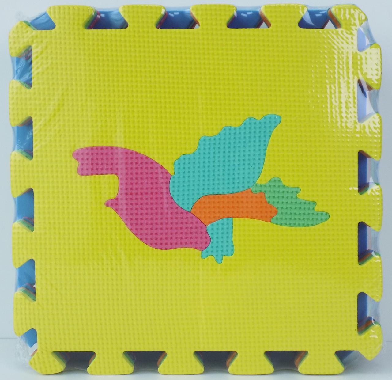 Детский развивающий коврик для детей  Мозаика Птицы