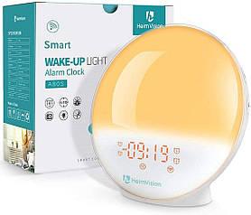 Будильник HeimVision Sunrise, A80S Smart Wake up Light Work with Alexa