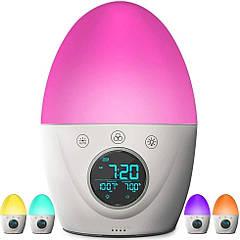 Будильник дитячий нічник FiveHome, Таймер сну, 7-кольорове світло