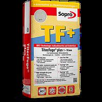 Sopro TF+ - Високоміцна затирка для швів від 1 мм до 10 мм, 15 кг 585 цементно-сірий
