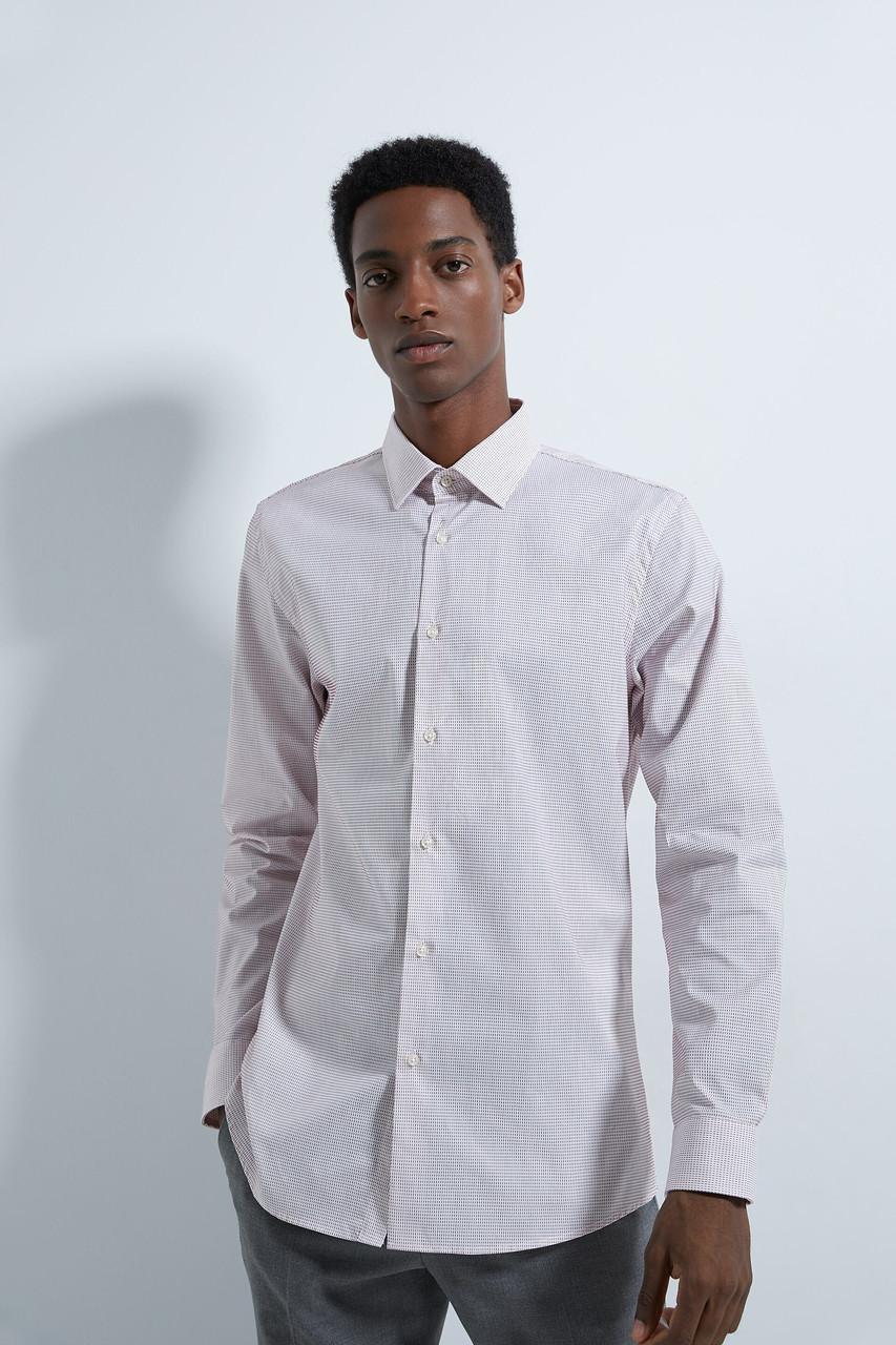 Рубашка мужская Zara розовая (6575 974 605)