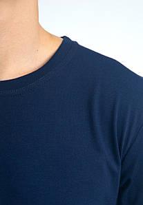 Універсальна футболка вільного крою БАТАЛ (темно-синя)