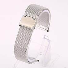 Ремінець для годинника Mesh steel design bracelet Універсальний, 22 мм. Silver