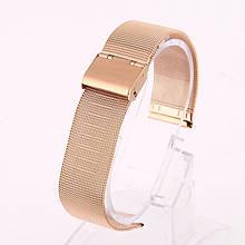 Ремінець для годинника Mesh steel design bracelet Універсальний, 22 мм. Rose gold