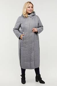 Женское весеннее стеганое пальто больших размеров 56-64