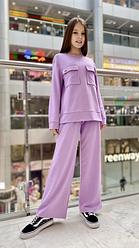 Детский спортивный костюм для девочек с кюлотами, р-ры на рост 122 - 156