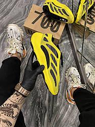 Мужские кроссовки Adidas Yeezy Boost 700 V3 Yellow Black (черные/желтые)