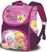 Школьный каркасный ранец первоклассника Рюкзак портфель ранец ортопедический для девочки Феи Фиолетовый