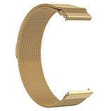 Ремінець для годинника Melanese design bracelet Універсальний, 20 мм Gold, фото 2