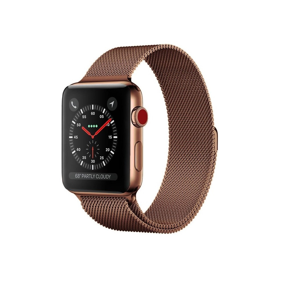 Ремінець для годинника Milanese loop steel bracelet Apple watch, 42-44 мм. Bronze