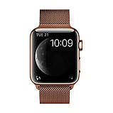 Ремінець для годинника Milanese loop steel bracelet Apple watch, 42-44 мм. Bronze, фото 2