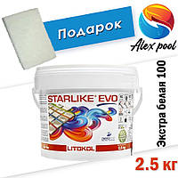 Litokol Starlike EVO C 100 Экстра белая (Bianco Assoluto) 2.5 кг - эпоксидная двухкомпонентная  затирка