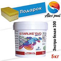 Litokol Starlike EVO C 100 Экстра белая (Bianco Assoluto) 5 кг - эпоксидная затирка двухкомпонентная
