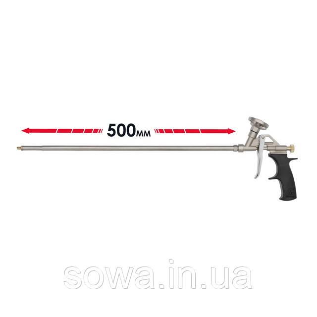 Пистолет для пены INTERTOOL PT-0650  с длинным носиком 500 мм + 4 насадки