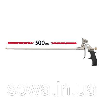 Пистолет для пены INTERTOOL PT-0650  с длинным носиком 500 мм + 4 насадки, фото 2