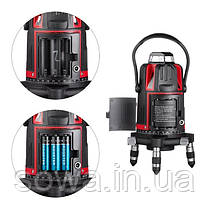 Рівень лазерний INTERTOOL МТ-3004 : 5 лазерних головок, червоний лазер, фото 2