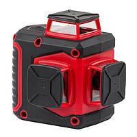Рівень лазерний 360 град, 3 лазерні головки, зелений лазер INTERTOOL МТ-3067